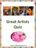 Great Artists Quiz