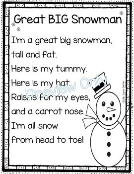 Great BIG Snowman - Winter Poem for Kids
