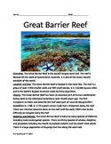 Great Barrier Reef - Lesson Informaional article facts history questions vocab