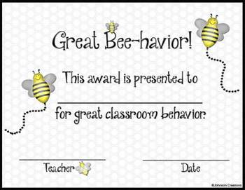 Great Bee-havior Award