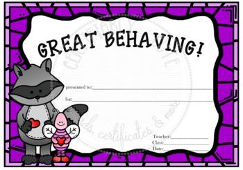 Great Behaving!