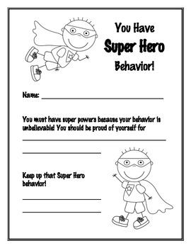Great Behavior Certificates By Crazy Days Counseling Tpt