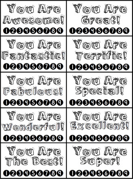 Free Great Behavior Punch Cards!