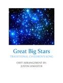 Great Big Stars - Orff Arrangement