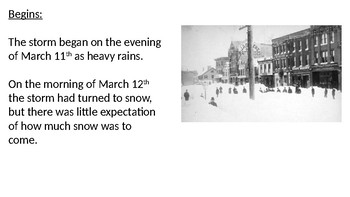 Great Blizzard of 1888 - Power Point - history facts information pictures