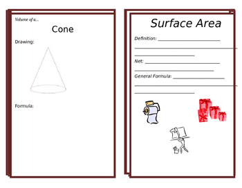 Great Booklet to Teach Volume and Surface Area.