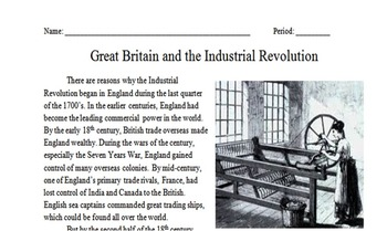 American Industrial Revolution Worksheets Worksheets for all ...