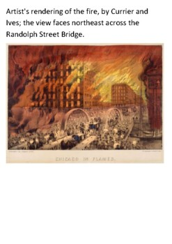 The Great Chicago Fire 1871 Handout