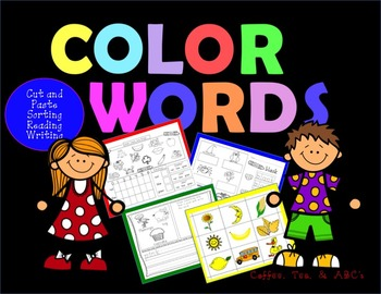 Great Color Word Activities for the Year