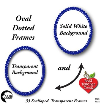 FRAMES - Bundle of 33 Transparent Scalloped edge frames -AMB-1888