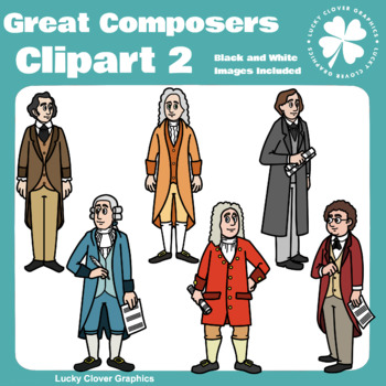 Great Composers Clipart 2