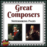 Composers Notebooking Pages