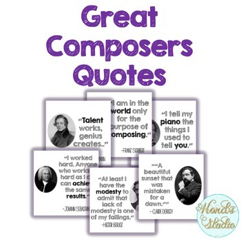 Great Composers Quotes Posters