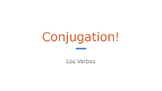 Spanish Verb Conjugation PowerPoint Bell-Ringer!