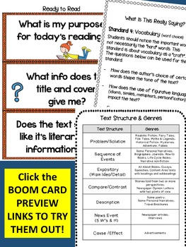 Close Reading  and Text Features Bundle