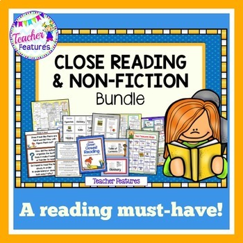 Close Reading | Text Features Activities Bundle