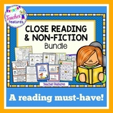 Close Reading Comprehension Activities NONFICTION TEXT FEATURES plus BOOM CARDS