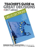 Great Decisions in Foreign Policy Teachers Guide