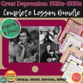 Great Depression: 1920s-1930s: HUGE LESSON BUNDLE  DIGITAL