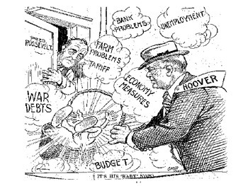 Great Depression 1930's Political Cartoon Analysis
