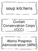 Great Depression/1930s Vocabulary Cards - SS5H3