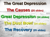 Great Depression! (ALL 4 PARTS) visual, textual, engaging EPIC 100-slide PPT