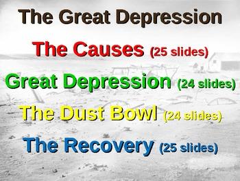 Great Depression! (ALL 4 PARTS) visual, textual, engaging