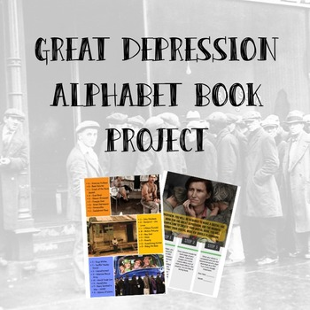 Great Depression Alphabet Book Project