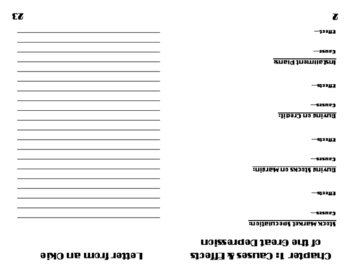 Great Depression Booklet