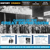 Great Depression Causes - PowerPoint with Cloze Notes (40
