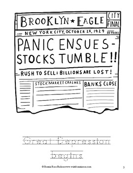 Great Depression Coloring Book-Level A
