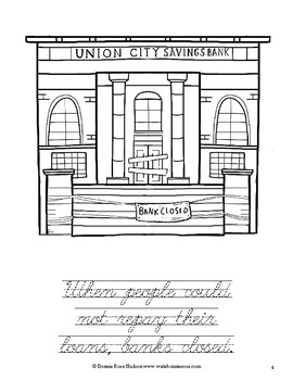 Great Depression Coloring Book—Level C
