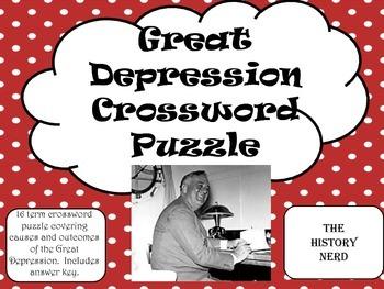 Great Depression Crossword Puzzle