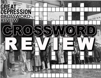 Great Depression Crossword Puzzle Review