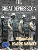 Great Depression Differentiated Reading Passages