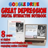 Great Depression Google Drive Interactive Notebook for Dis
