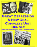 Great Depression, Dust Bowl, & New Deal WHOLE Unit (PPT, Notes, Tests, etc)