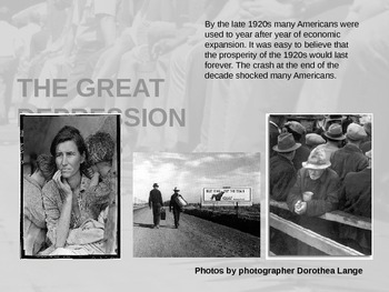 Great Depression - ENTIRE UNIT