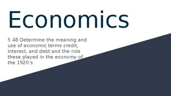 Great Depression : Economics