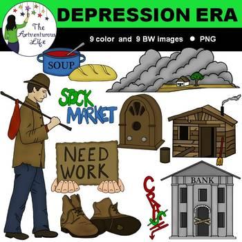 Great Depression Era Clip Art