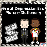 Great Depression Era Picture Dictionary