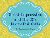 Great Depression Era Task Cards
