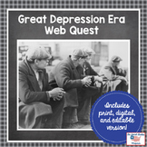 Great Depression Era Web Quest