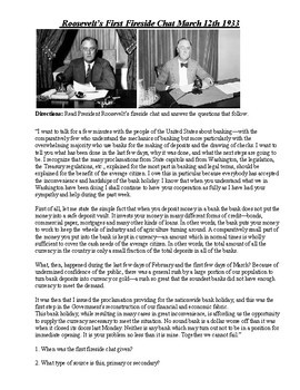 Great Depression:  FDR Banking Crisis-Lesson Plan