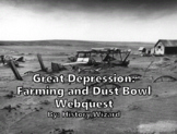 Great Depression Farming and Dust Bowl Webquest