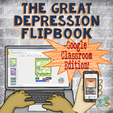 Great Depression Google Classroom and One Drive Flipbook