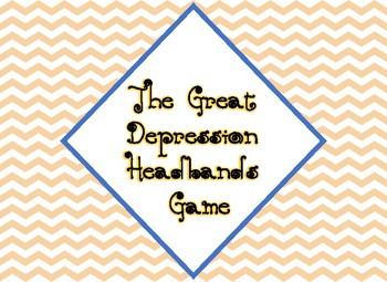 Great Depression Headbands Game (Digital Version)