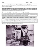 Great Depression Historical Assessment of Thinking (Quiz)