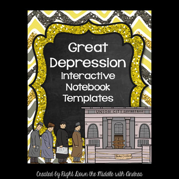 Great Depression Interactive Notebook Templates