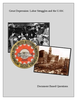 Great Depression: Labor Struggles and the United Automobile Workers